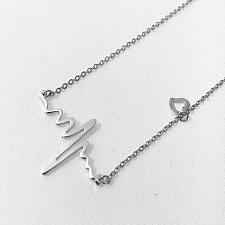 Buy fashion men women silver plated necklace