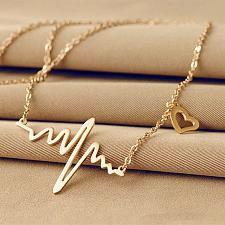 Buy fashion men women gold plated necklace