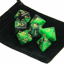 Buy 7pcs Set Green Polyhedral Game Dungeons & Dragons Dice - Brand New