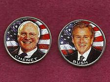 Buy 2004 - 25 Cent Texas State Quarters (President Bush & VP Cheney) Colorized UNC