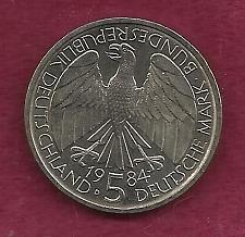 Buy GERMANY - West Germany - Bundesrepublik - German 5 MARK 1984 D Coin