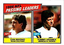 Buy 1987 Topps #227 Passing Leaders Dan Marino Tommy Kramer