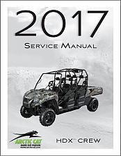 Buy 2017 Arctic Cat HDX Crew UTV Service Manual on a CD