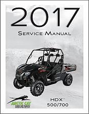Buy 2017 Arctic Cat HDX 500 / HDX 700 UTV Service Manual on a CD