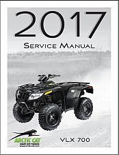 Buy 2017 Arctic Cat VLX 700 ATV Service Manual on a CD