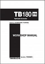 Buy Takeuchi TB180FR Hydraulic Excavator Service Workshop Manual on a CD - TB 180