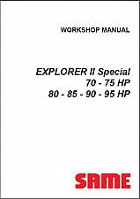Buy SAME EXPLORER II Special 70 75 80 85 90 95 HP Tractor Service Workshop Manual CD