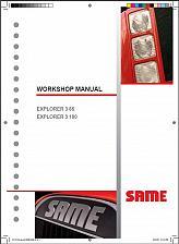 Buy SAME EXPLORER 3 85 / EXPLORER 3 100 Tractor Service Workshop Manual CD