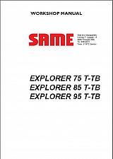 Buy SAME EXPLORER 75 T-TB / 85 T-TB / 95 T-TB Tractor Service Workshop Manual CD