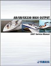 Buy Yamaha AR230 / SR230 / SX230 Jet Boat / Sport Boat Service Manual CD --- AR SR SX 230