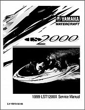 Buy Yamaha LS2000 Jet Boat / Sport Boat Service Manual CD ---- LST1200 LS 2000