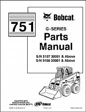 Buy Bobcat 751 G-Series Skid Steer Loader Parts Manual on a CD