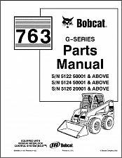 Buy Bobcat 763 G-Series Skid Steer Loader Parts Manual on a CD