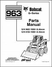 Buy Bobcat 963 G-Series Skid Steer Loader Parts Manual on a CD
