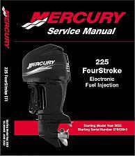 Buy Mercury 225 EFI (4-Stroke) Outboard Motor Service Manual on a CD