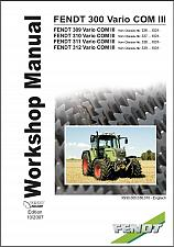 Buy FENDT 300 Vario ( 309 310 311 312 ) Tractor Service Workshop Manual on a CD