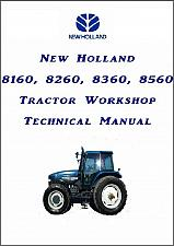 Buy New Holland 8160 8260 8360 8560 Tractor Repair Service Manual on a CD