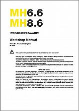 Buy New Holland MH6.6 MH8.6 Hydraulic Excavator Service Manual on a CD - MH 6.6 8.6