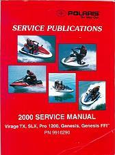 Buy 2000 Polaris Virage TX / SLX / Pro 1200 / Genesis / Genesis FFI Service Manual CD