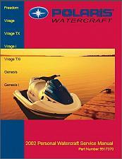 Buy 2002 Polaris Freedom / Virage / Genesis Personal Watercraft Service Manual on CD