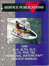 Buy 1999 Polaris SLH, SLTH, SLX, SLTX, PRO 785 Personal Watercraft Service Manual CD
