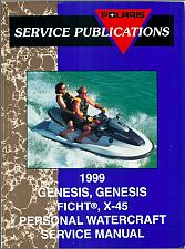 Buy 1999 Polaris GENESIS, GENESIS FICHT, X-45 Personal Watercraft Service Manual CD