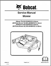Buy Bobcat Mower / Finish Mower Service Manual on a CD