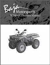 Buy Baja Wilderness Trail 400 ( WD400U ) Service Repair Manual on a CD