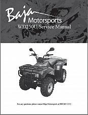 Buy Baja Wilderness Trail 250 ( WD250U ) Service Repair & Parts Manual on a CD