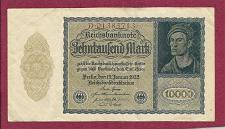 Buy GERMANY 10,000 Mark 1922 VAMPIRE NOTE D01383716--A Historic & truly Unique Banknote!!