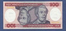 Buy BRAZIL 100 Cruzeiros 1984 ND Stan I BRAZYLIA Note A5957041858A AUNC - Stan Brazylia