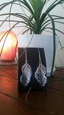 Buy Silver leaf Earrings