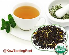 Buy Organic Peach Black Tea 16 oz 1 Pound Excellent for Cold / Hot Brew Healthy Benefits