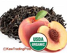 Buy 100% certified Organic Peach Tea 16 oz - 1 pound . Steep a cup today!