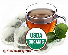 Buy 100% Organic Tea Bags 8 oz 1/2 Pound - Various Flavors - Black , Herbal