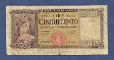 Buy ITALY 500 lire 1947 Banknote 050202 - Bank of Italy (WWII ERA Currency!)