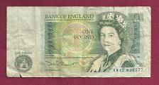 Buy GREAT BRITAIN 1 POUND 1978-84 Banknote #AW17836577 ENGLAND QEII/Sir Isaac Newton