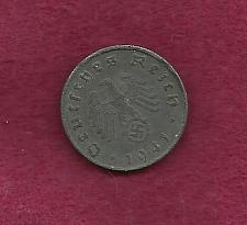 Buy GERMANY 10 Pfennig 1941-D Coin Zinc - WWII Currency, THIRD REICH w/SWASTIKA