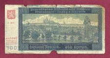 Buy BOHEMIA & MOROVIA 100 Kronen 1940 Banknote 445295 - Czechoslavakia/WWII Currency