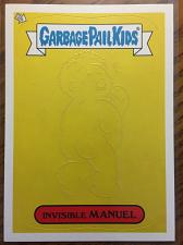 Buy Garbage Pail Kids 2013 Brand New Series 2 Invisible Manuel #10 Glow In The Dark