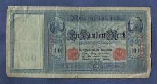 Buy Germany 100 Mark 1910 Banknote E8786998 Wilhelm watermark-Mercury/Ceree/Germania
