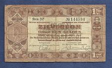 Buy NETHERLANDS 1 GULDEN 1938 BANKNOTE No144534 Series DZ ZILVERBON- SILVER NOTE P61