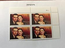 Buy USA United States Alfred Lunt block mnh 1999 #2