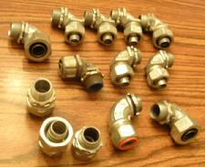 "Buy Lot of 13: 3/8"" & 1/2"" Sealtight Conduit Connectors"