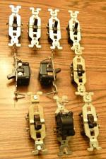 Buy Lot of 10: GE 3 Wire Brown Toggle Switches :: FREE Shipping