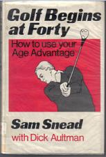 Buy Golf Begins at Forty LARGE PRINT HB w/ DJ : Sam Snead :: FREE Shipping