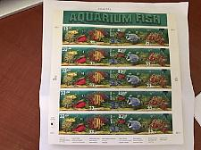 Buy USA United States Aquarium fish mnh sheet 1998 stamps