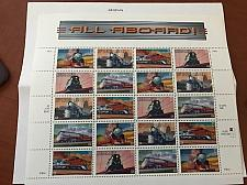 Buy USA United States All aboard locomotives mnh sheet 1999 stamps