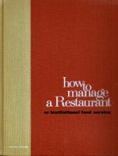 Buy How to Manage a Restaurant / Institutional Food Service