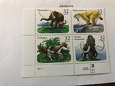 Buy USA United States Prehistoric animals block mnh 1996 #3 stamps